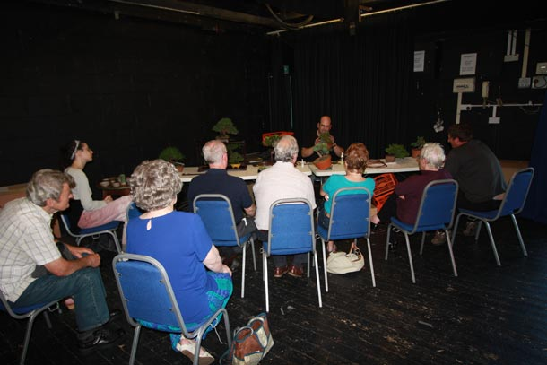 John Armitage at Bristol Bonsai Show 2011