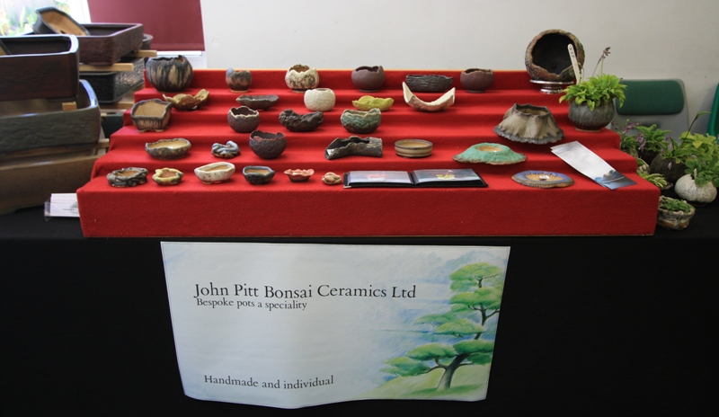 John Pitt Bonsai Ceramics_Stand at Capel Manor