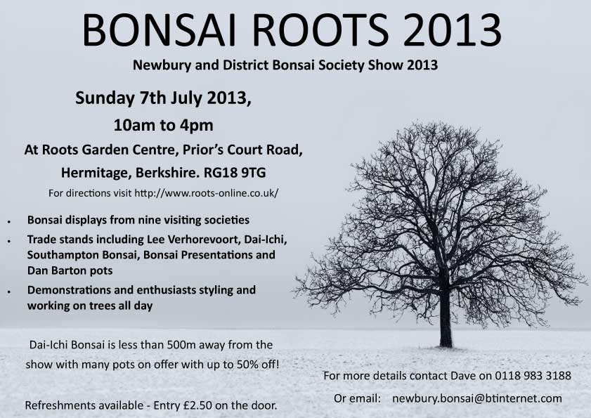 Bonsai Roots Show Poster