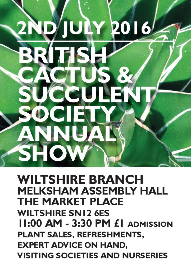 Cactus & Succulent Show Melksham
